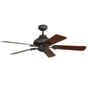 Ellington Fans ELF FRV52BBZ5CRW Fairview 52 Ceiling Fan w/Light Kit