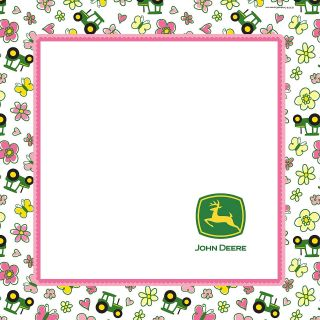 John Deere Pink Lunch Napkins