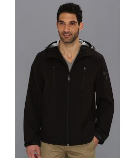 Calvin Klein Hooded Soft Shell Jacket CM403761 Mens Coat (Black)