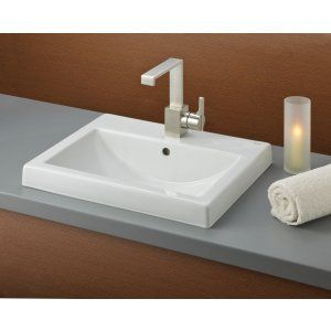 Cheviot 1190 WH 1 Allure Semi Recessed Basin with Single Hole Faucet Drilling