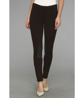 MICHAEL Michael Kors Faux Leather/ Knit Riding Pant Womens Casual Pants (Brown)