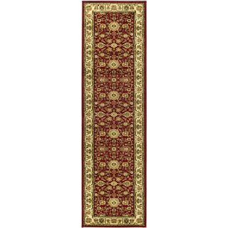 Lyndhurst Collection Majestic Red/ Ivory Runner (23 X 8)