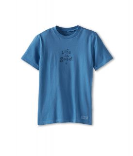 Life is good Kids Stacked LIG Crusher Tee Boys T Shirt (Blue)