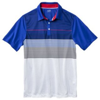 C9 by Champion Mens Advanced Striped Golf Polo Shirt   Athens Blue M