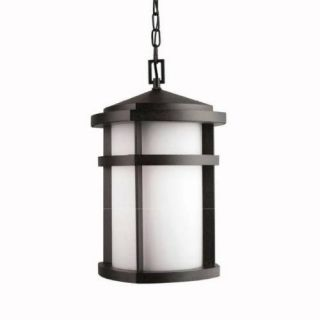 Kichler 9567GNT Outdoor Light, Soft Contemporary/Casual Lifestyle Pendant 1 Light Fixture Textured Granite
