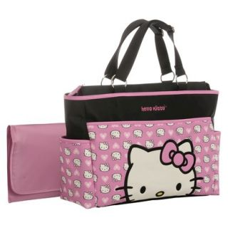Hello Kitty Diaper Bag Tote   Black/Pink