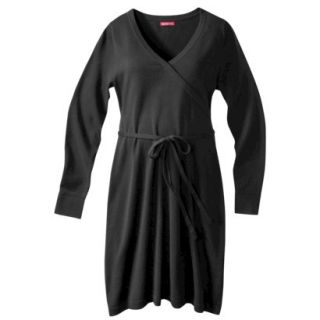 Merona Maternity Long Sleeve V Neck Sweater Dress   Black XS