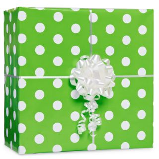Kiwi with Polka Dots Gift Wrap Kit