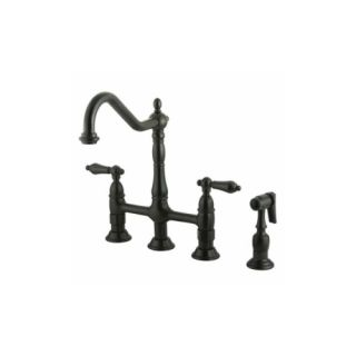 Elements of Design ES1275ALBS New Orleans Two Handle Kitchen Faucet With Spray